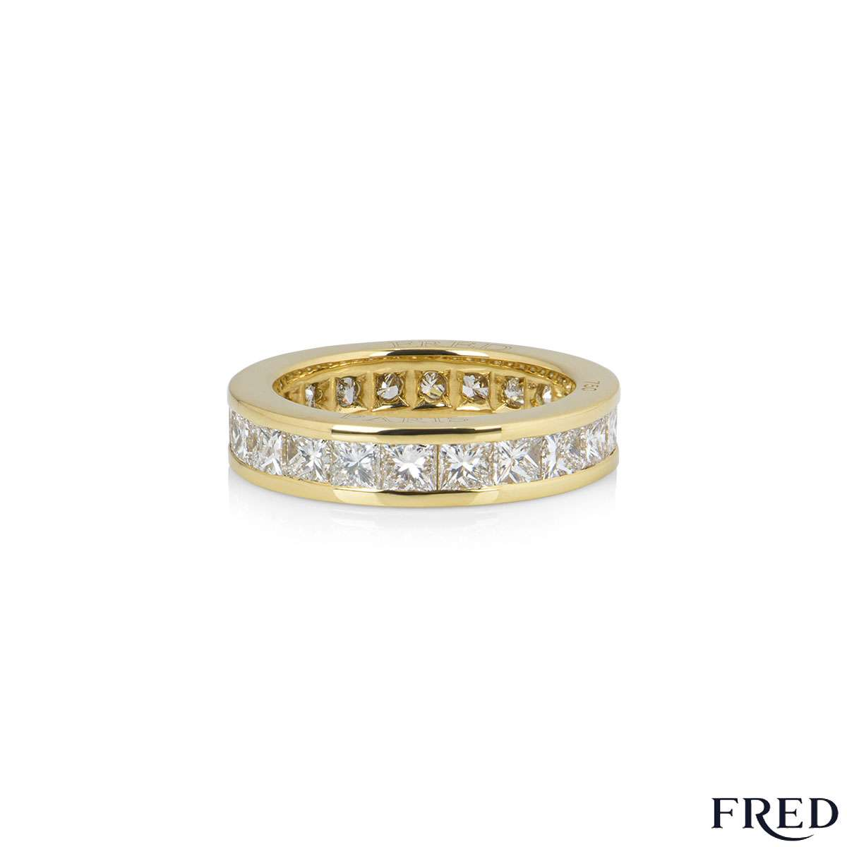 Fred Yellow Gold Diamond Eternity Ring